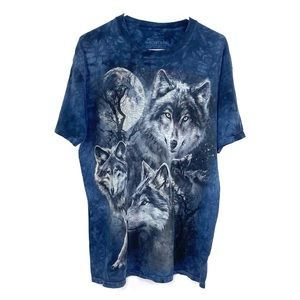 The Mountain Wolf and Moon Screen Print TShirt